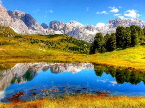 Mountains, glaciers
