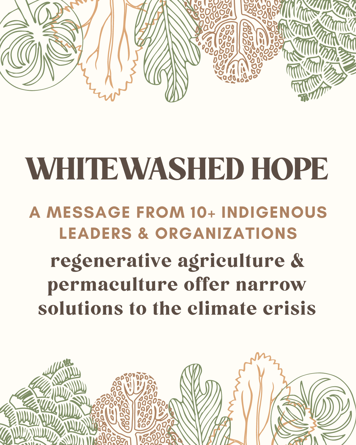 Whitewashed Hope